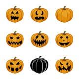 Halloween stellte mit Kürbisen ein Lizenzfreie Stockfotos