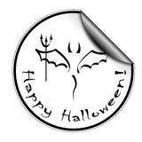 Halloween sticker Stock Image