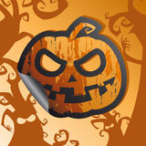 Halloween sticker. Royalty Free Stock Images