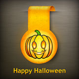 Halloween sticker grimace pumpkin Stock Images