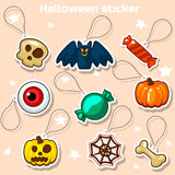 Halloween sticker icons Royalty Free Stock Photography