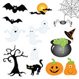 Halloween. Sticker and web elements for Halloween, be scary Stock Image