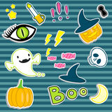 Halloween stickers Royalty Free Stock Image