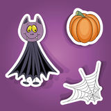 Halloween stickers Stock Image