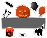 Halloween stickers. Stock Images