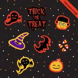 Halloween Stickers-2 Zdjęcia Royalty Free