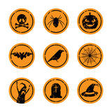 Halloween stickers Stock Photo
