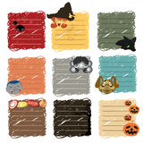 Halloween stickers note Stock Images