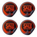 Halloween stickers set 10,20,30,40 with scytheman. Vector illustration card vector illustration