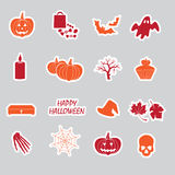 Halloween stickers set eps10 Royalty Free Stock Image