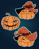 Halloween stickers set. For using in different spheres Stock Photos