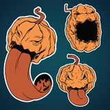 Halloween stickers set. For using in different spheres Royalty Free Stock Image