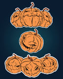 Halloween stickers set. For using in different spheres Stock Images