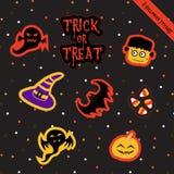Halloween Stickers-2 Royalty Free Stock Photos