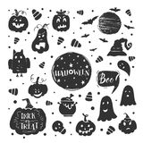 Halloween stickers set Royalty Free Stock Photography