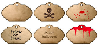 Halloween stickers. Vintage style labels Stock Image