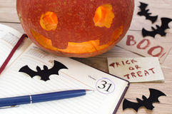 Halloween still life in the office 3 Royalty Free Stock Photography
