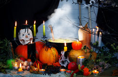 Halloween still life with potion Royalty Free Stock Images