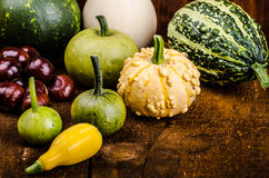 Halloween still life of pumpkins, inscription, shadows Royalty Free Stock Photography