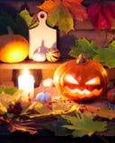Halloween still life with pumpkins Stock Image
