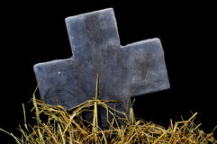 Halloween stone cross Royalty Free Stock Images