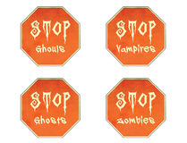 Halloween Stop Signs Royalty Free Stock Image