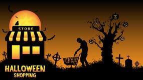 Halloween store open in graveyard Stock Photo