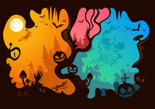 Halloween Story. What can you see? Vector illustration Stock Photo
