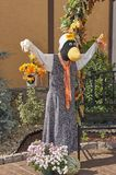 Halloween straw character scarecrows. Great Smoky Mountain National Park. Tennessee USA. Halloween Season with scarecrows and `spooky` dummy Royalty Free Stock Photo