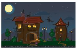 Halloween Street Stock Images