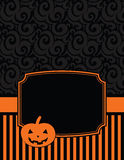 Halloween a strisce elegante Notecard con lo spazio della copia Fotografia Stock Libera da Diritti