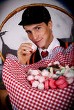 Halloween student sweets Stock Images