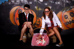 Halloween students sweets Royalty Free Stock Image
