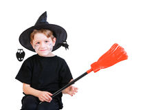 Halloween studio portrait of cute boy Stock Photo