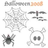 Halloween stuff. Funny and Scribble Halloween Stuff Stock Image