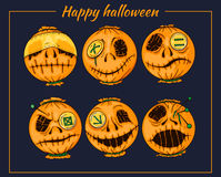 Halloween-style smiles of horror 2 Stock Photo