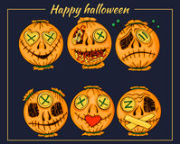 Halloween-style smiles of horror 3 Royalty Free Stock Photography