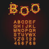 Halloween Style Typeface. Uppercase Letters And Numbers. Latin A Royalty Free Stock Photography