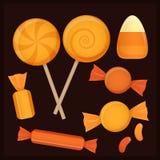 Halloween-suikergoed vastgestelde vectoren Royalty-vrije Stock Fotografie