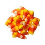 Halloween-Suikergoedkorrels op wit worden geïsoleerd dat royalty-vrije stock afbeelding