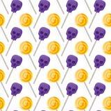 Halloween-Suikergoedpatroon vector illustratie