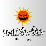 Halloween sun horror logo .eps royalty free stock photo