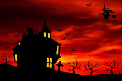 Halloween sunset Royalty Free Stock Image