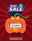 Halloween super sale template banner special discount up to 50% off. Halloween super sale template banner special discount up to 50% off,vector illustration stock illustration