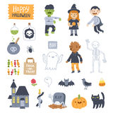 Halloween super set royalty free illustration