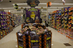 Halloween in supermarkt Stock Foto