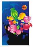 Halloween sweets Stock Images
