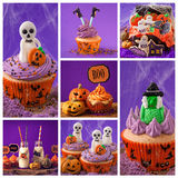 Halloween sweets collage Royalty Free Stock Photo