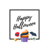 Halloween sweets colorful party background. Royalty Free Stock Photo