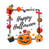 Halloween sweets colorful party background. Royalty Free Stock Image